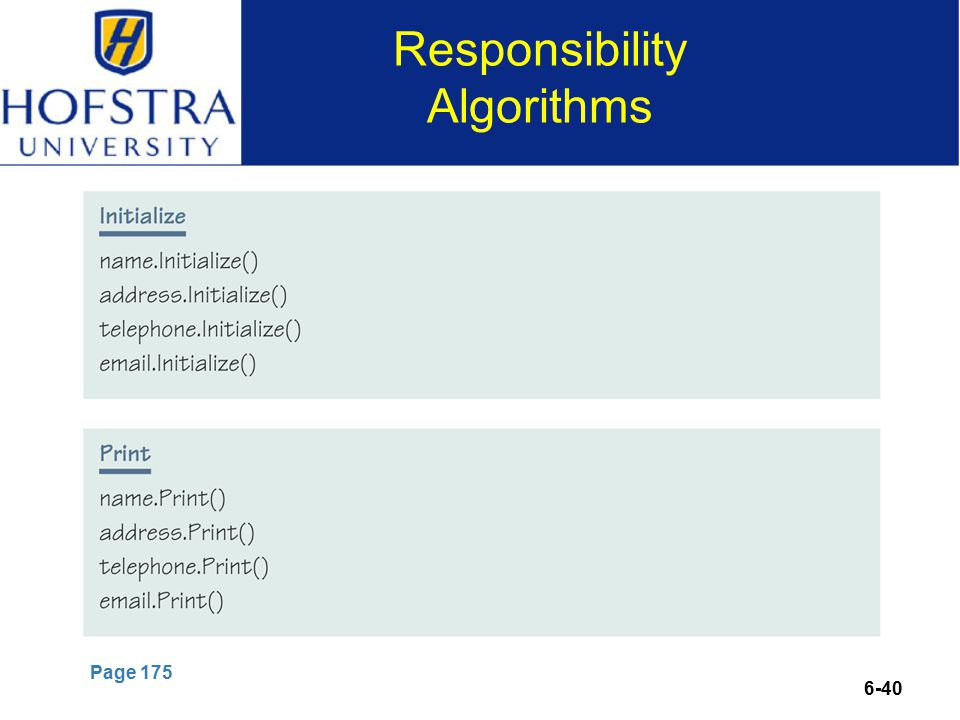 6-40 Responsibility Algorithms Page 175