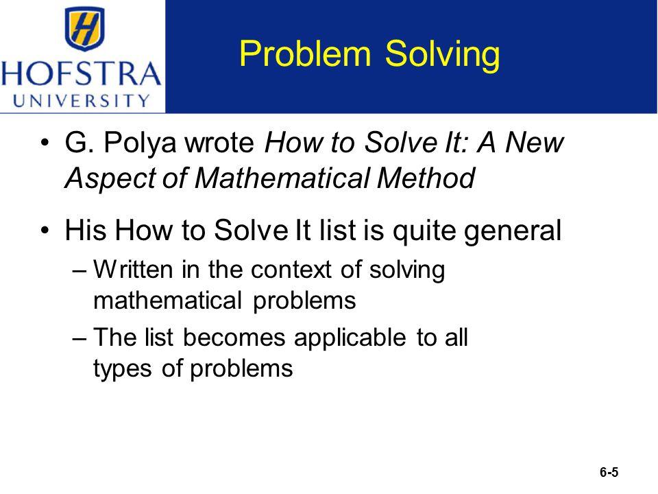 6-5 Problem Solving G.