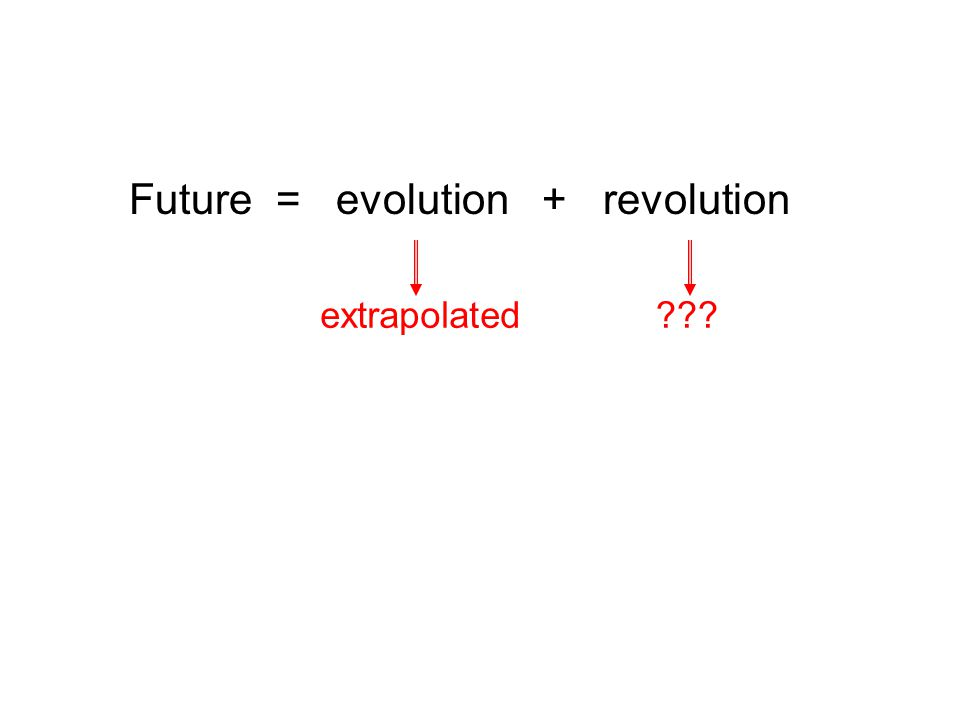 Future = evolution + revolution extrapolated
