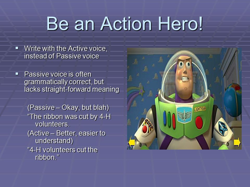 Be an Action Hero.