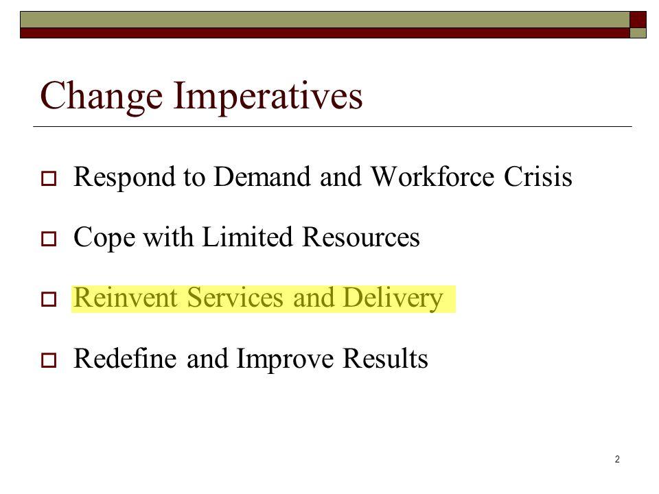 3 Workforce System Trends 1.Redefining Mission 2.