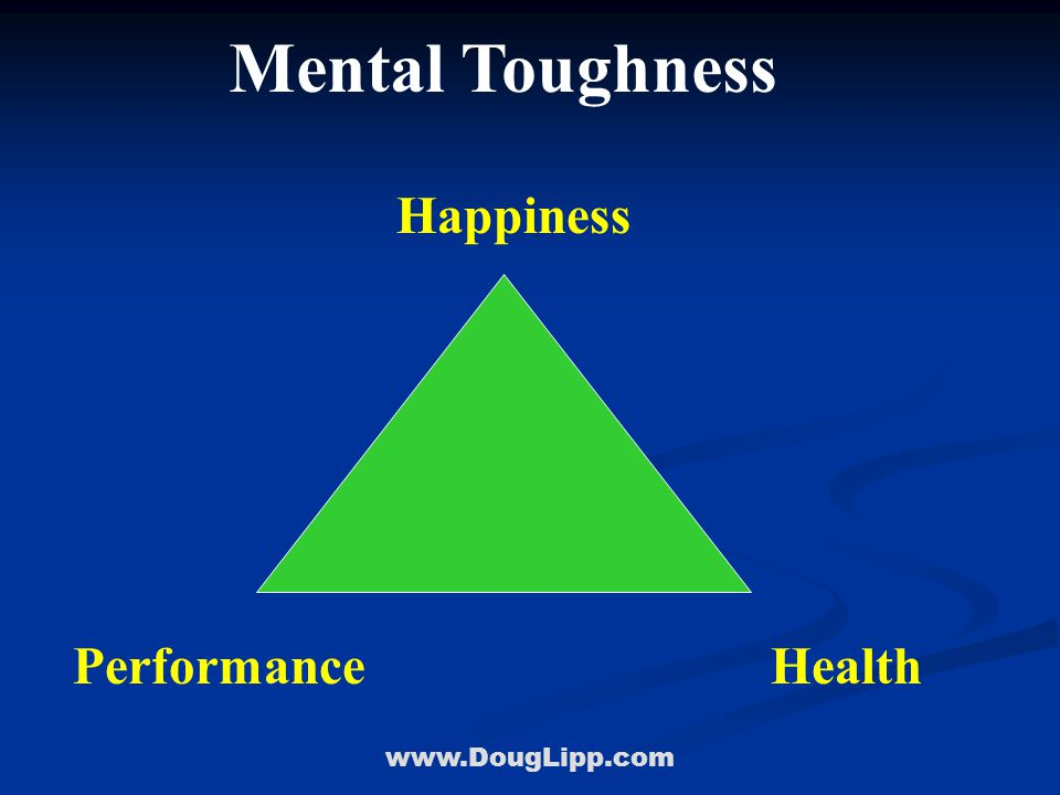 www.DougLipp.com Mental Toughness HealthPerformance Happiness