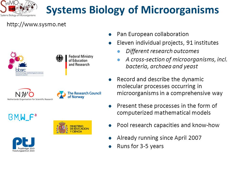 Pan European collaboration Eleven individual projects, 91 institutes Different research outcomes A cross-section of microorganisms, incl.