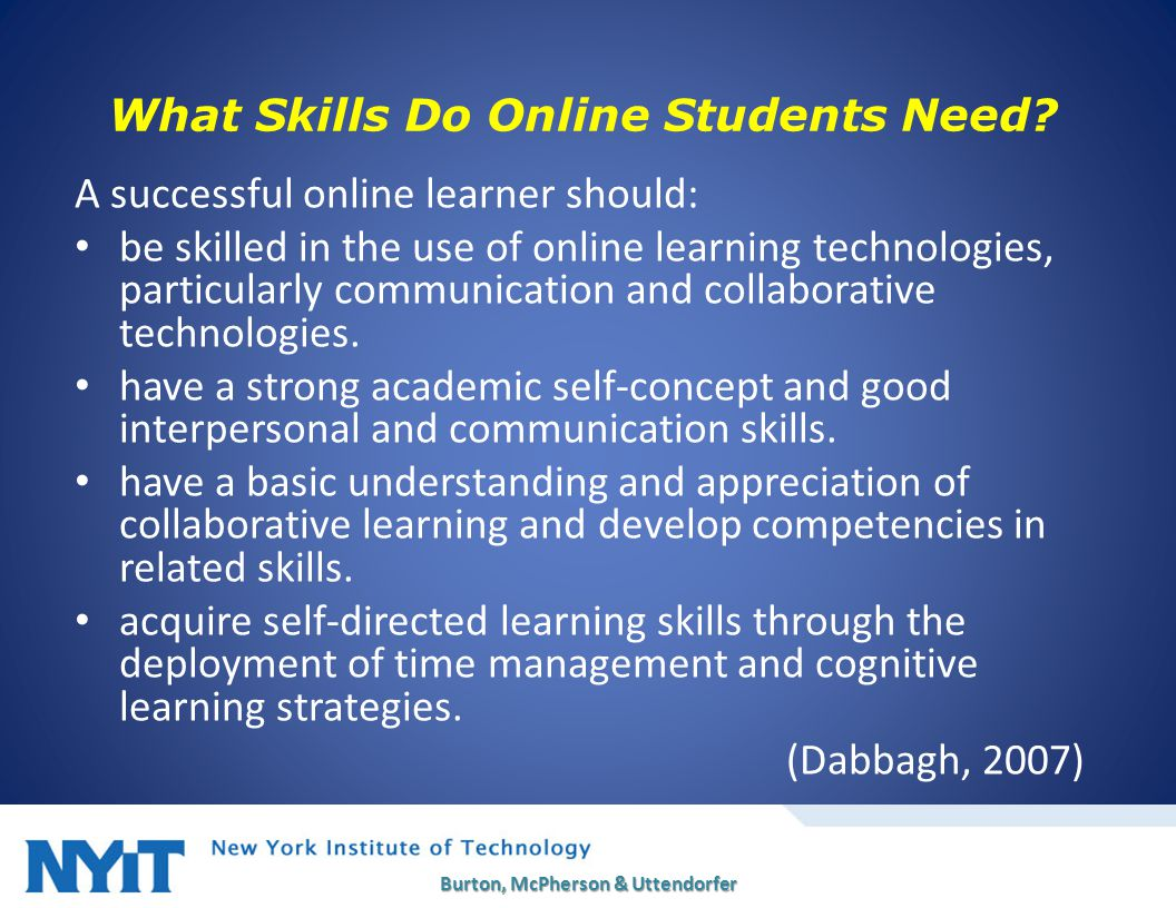 What Skills Do Online Students Need.