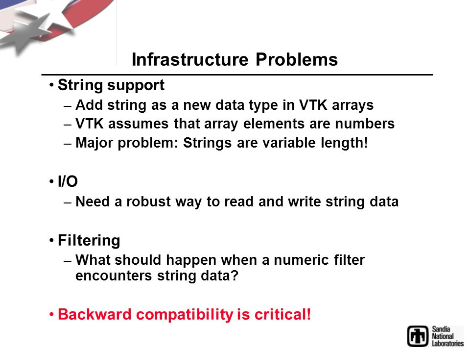 Problem 1: String data type We need to be able to treat a string as a POD type.