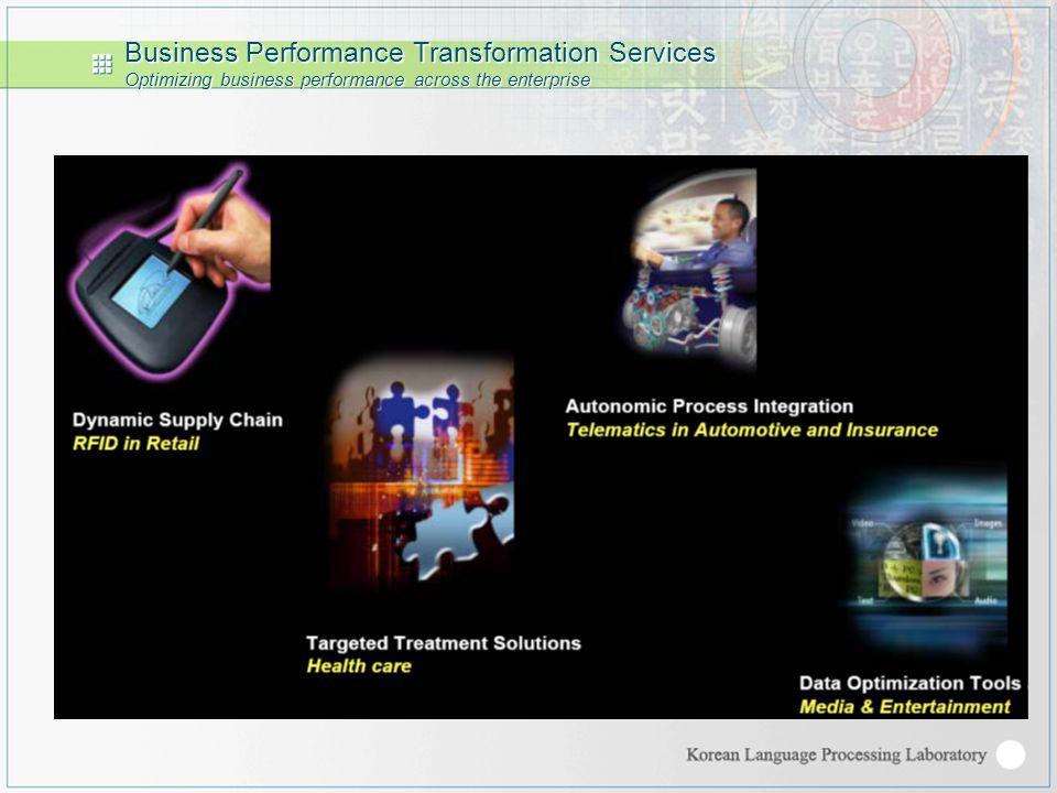 Business Performance Transformation Services Optimizing business performance across the enterprise