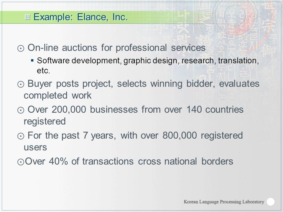 Example: Elance, Inc.