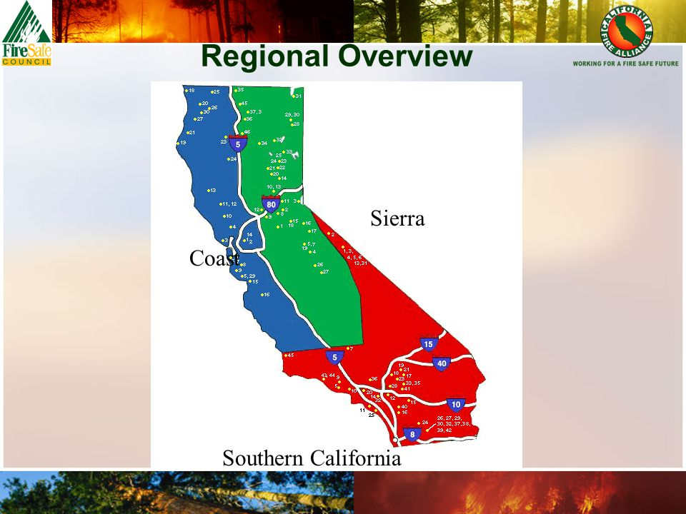 Regional Overview Coast Sierra Southern California