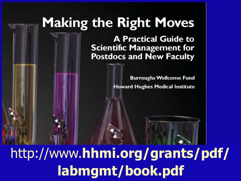 http://www.hhmi.org/grants/pdf/ labmgmt/book.pdf