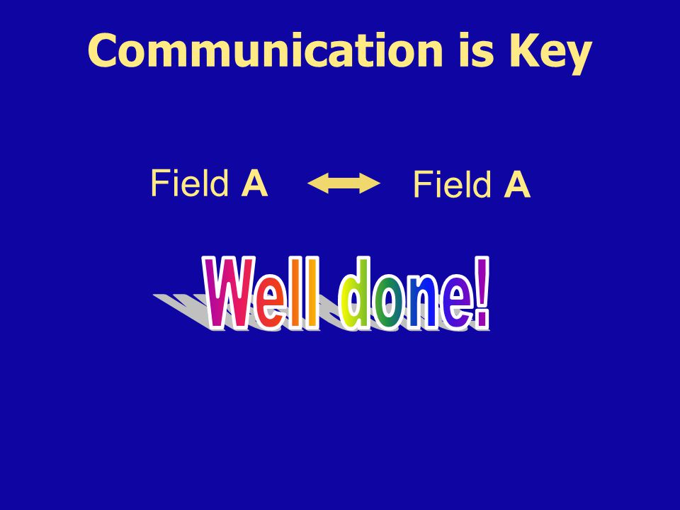 Communication is Key Field A