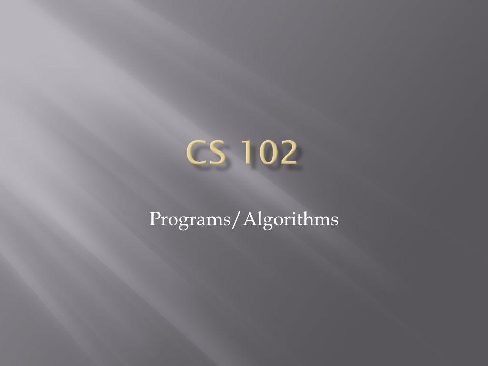 Programs/Algorithms
