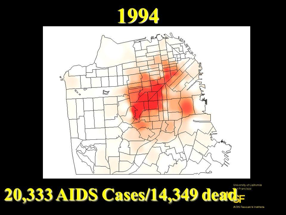 7569 AIDS Cases/5589 dead 1989