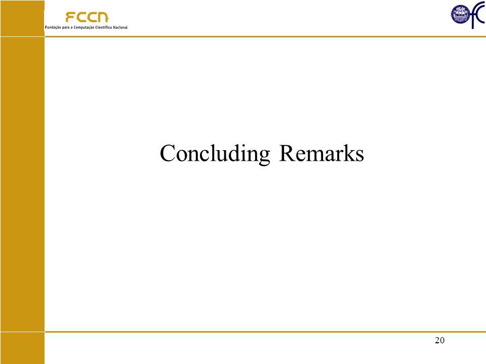 20 Concluding Remarks