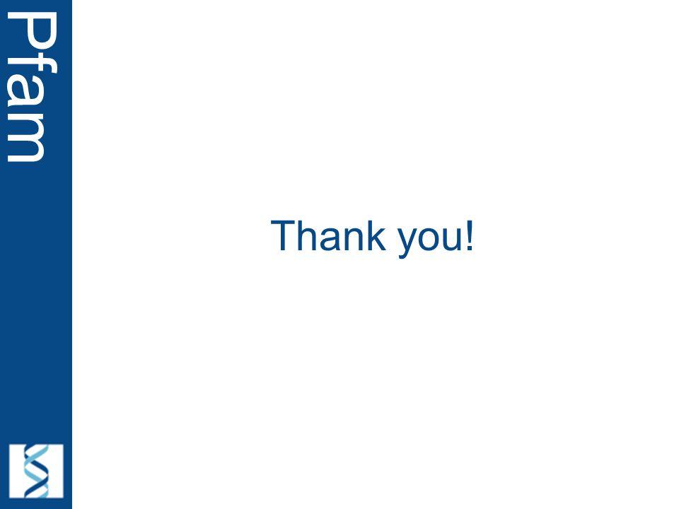 Pfam Thank you!