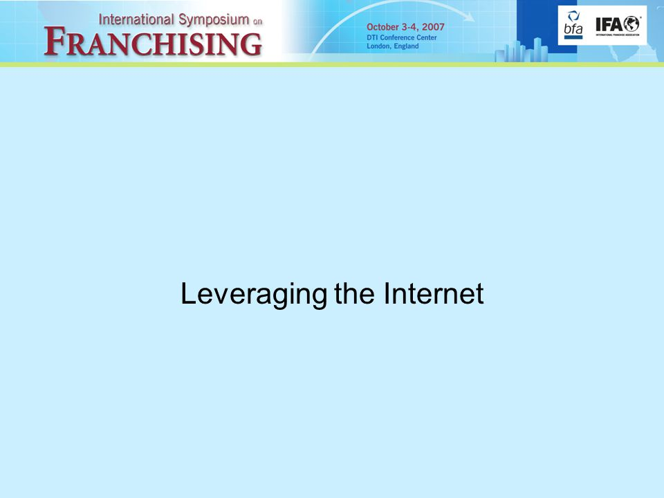 Leveraging the Internet