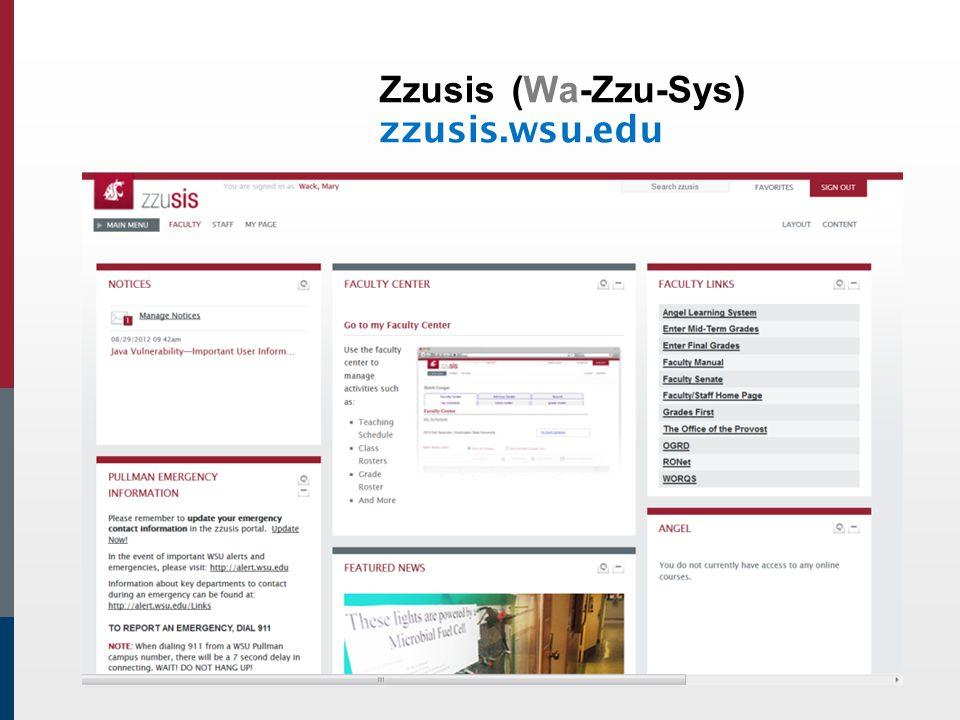 Zzusis(Wa-Zzu-Sys) zzusis.wsu.edu