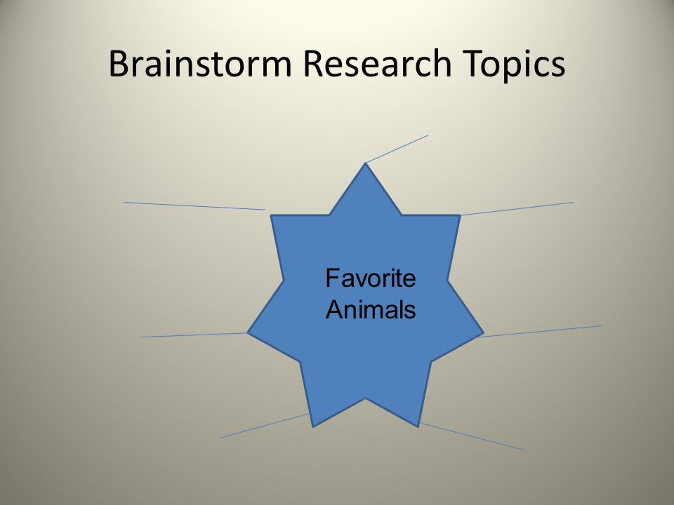 Brainstorm Research Topics Favorite Animals
