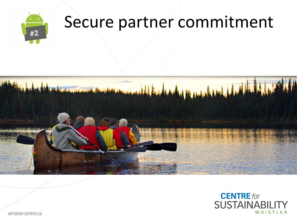 Secure partner commitment