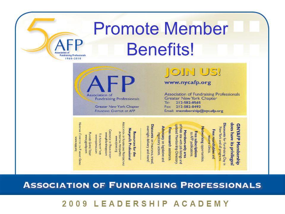 Promote Member Benefits!
