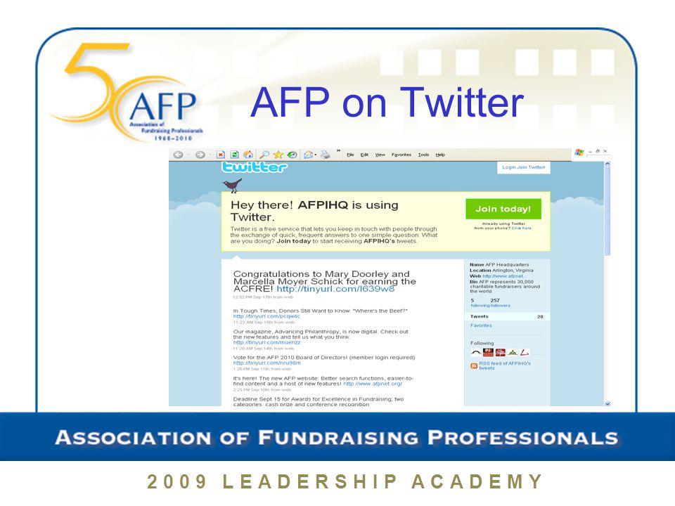 2009 LEADERSHIP ACADEMY AFP on Twitter