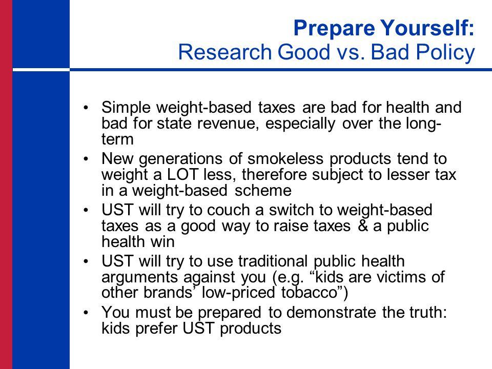 Prepare Yourself: Research Good vs.