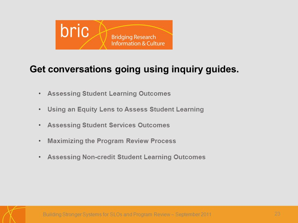 Get conversations going using inquiry guides.