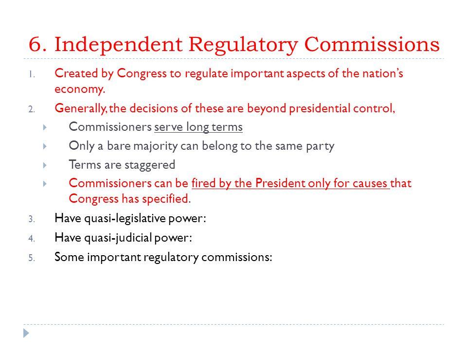 V.Controlling the Bureaucracy: Presidential Influences A.