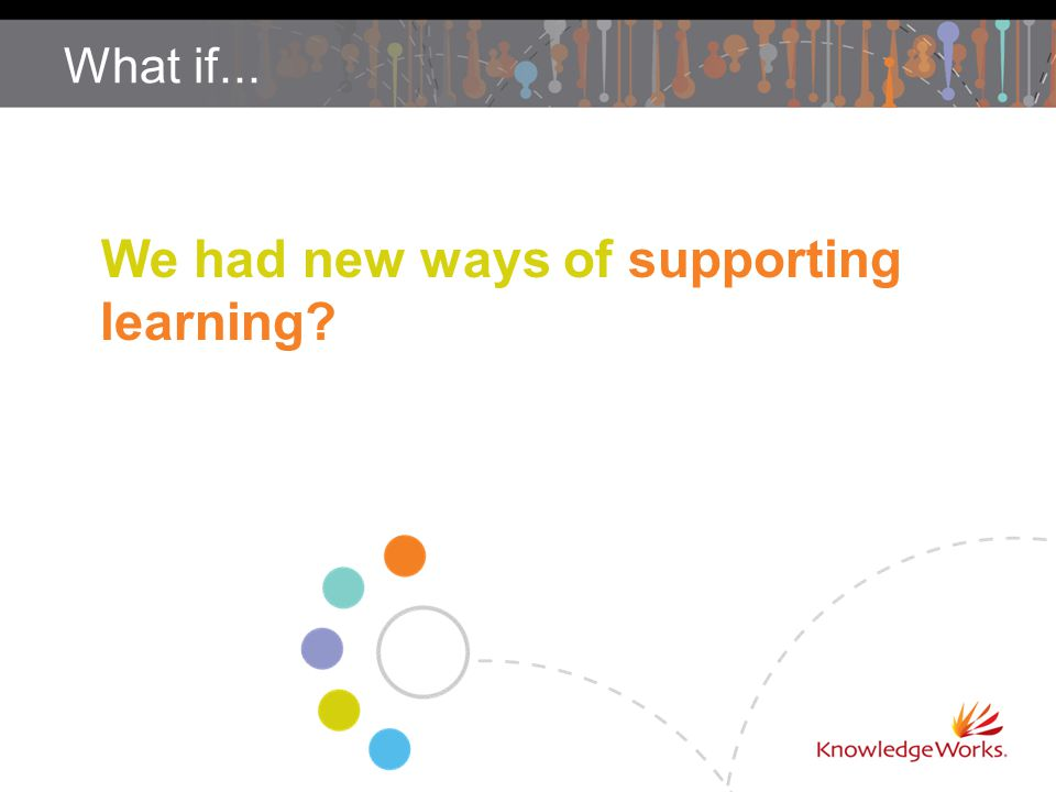 What if... We had new ways of supporting learning?