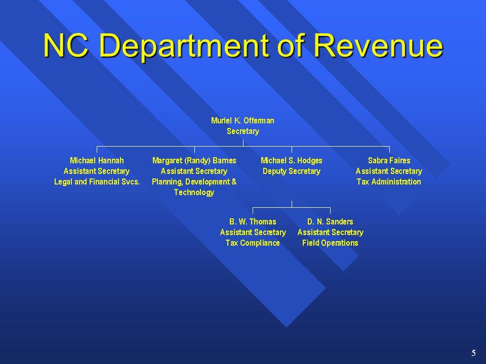 5 NC Department of Revenue