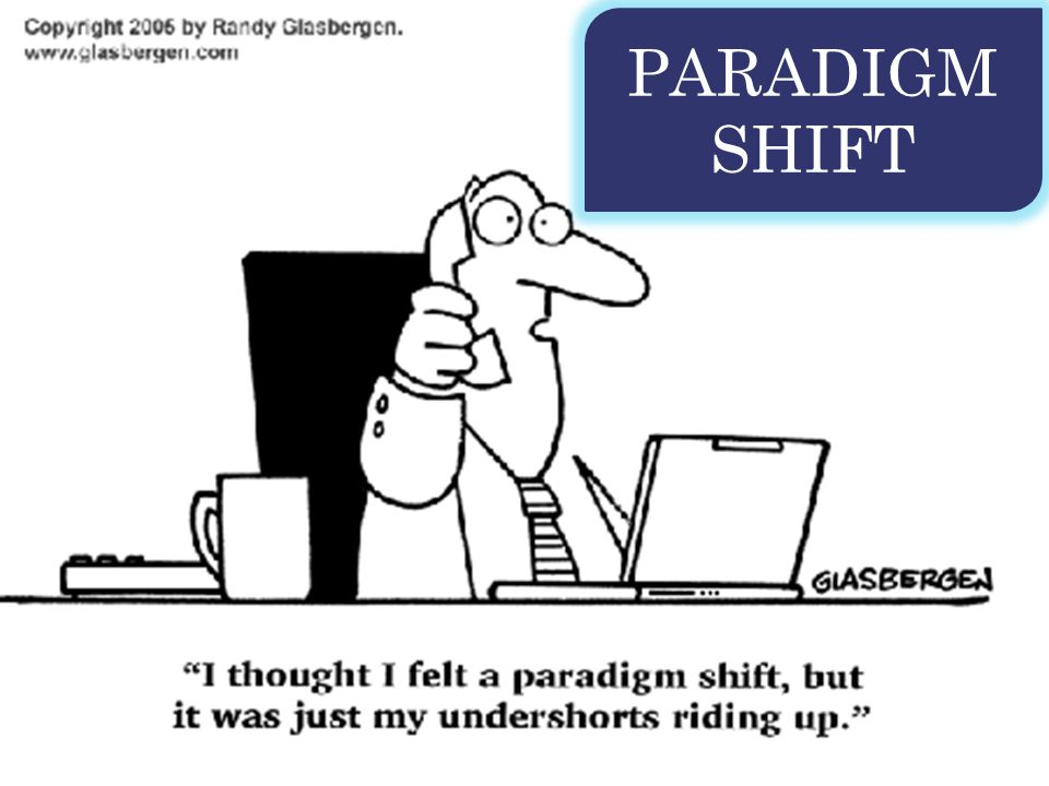 It's time to think differently… a shift in pedagogy is needed.