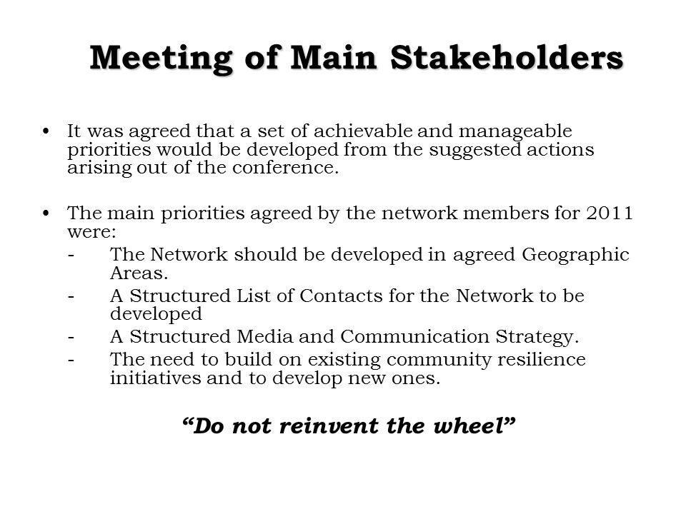 Implementation Framework Developing the Community Communications Structure Promoting Preparedness & Resilience