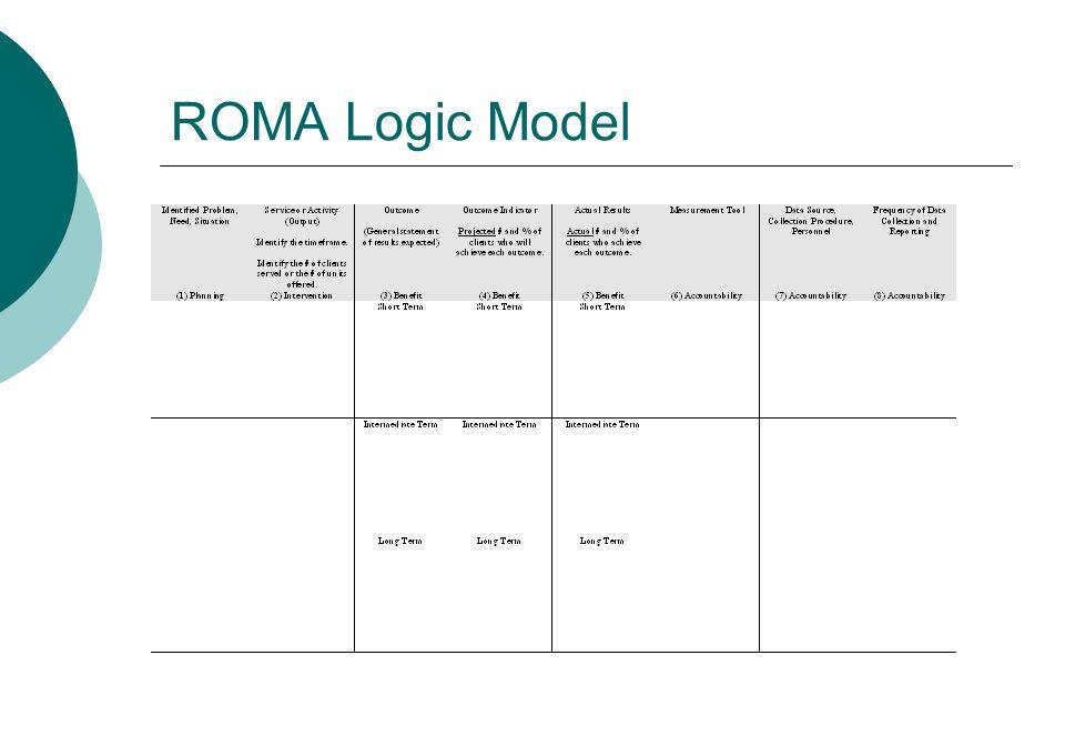 ROMA Logic Model