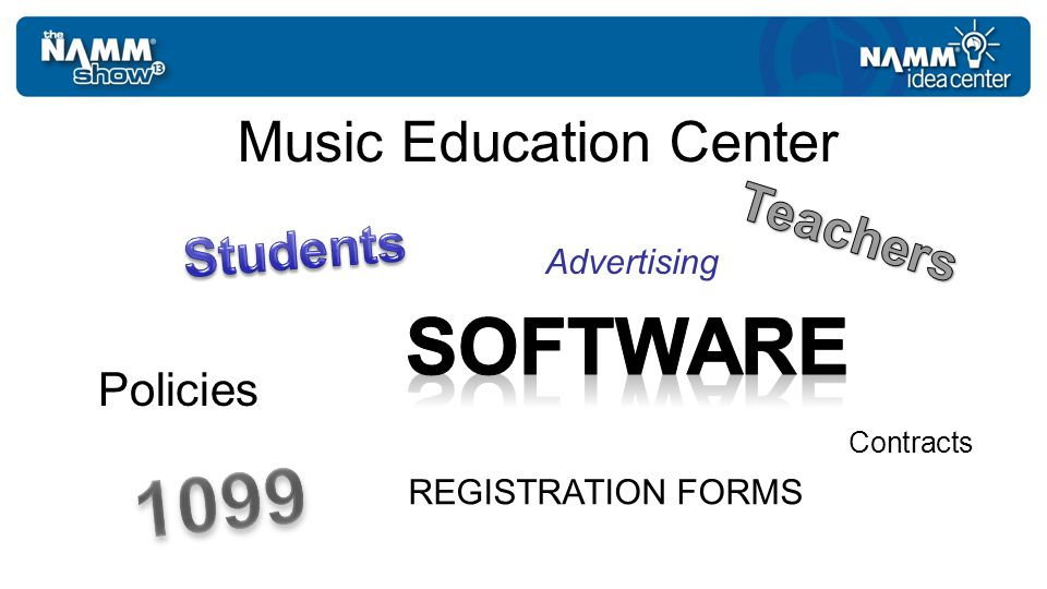 Music Education Center Policies REGISTRATION FORMS Contracts Advertising