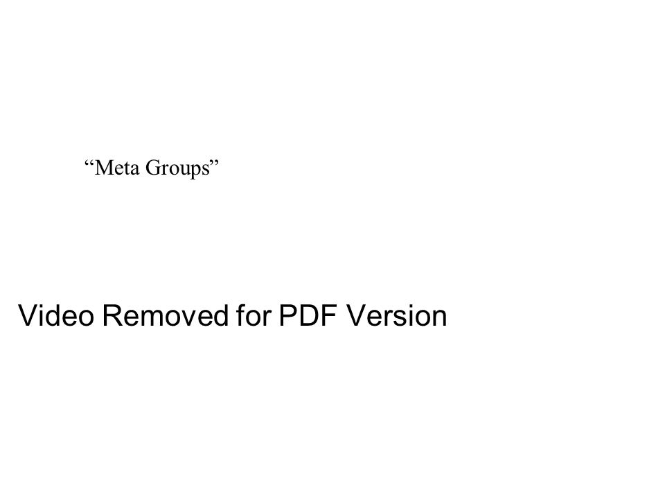 Meta Groups Video Removed for PDF Version