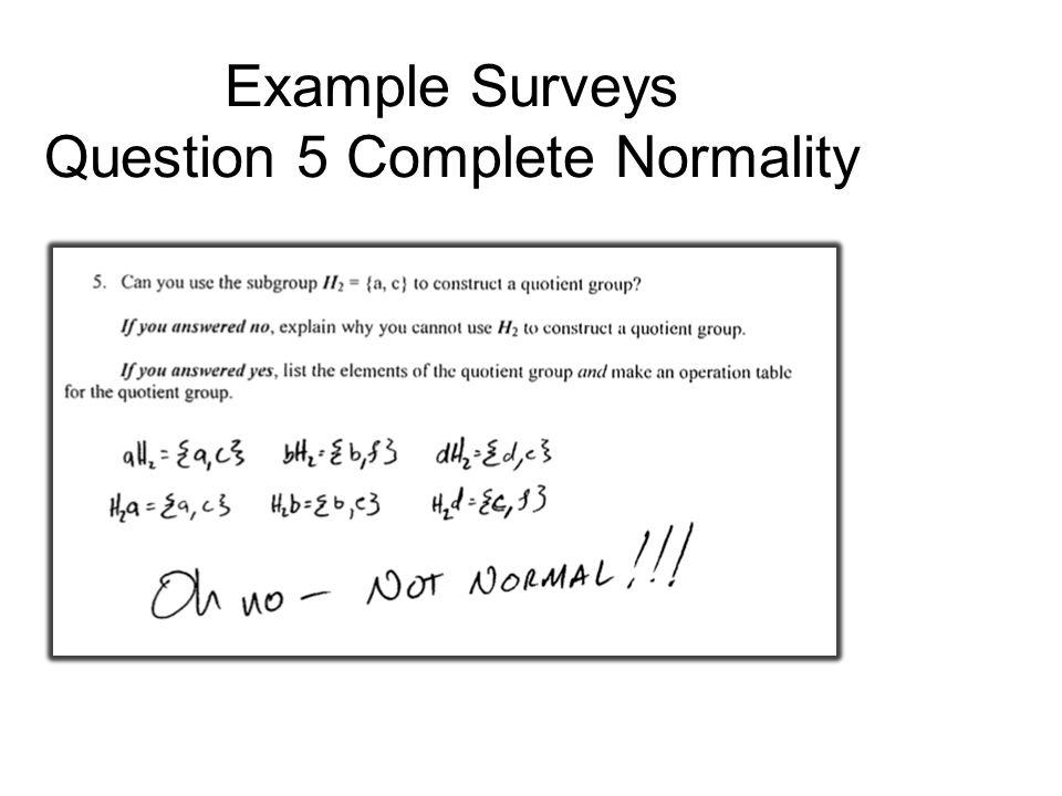 Example Surveys Question 5 Complete Set Op
