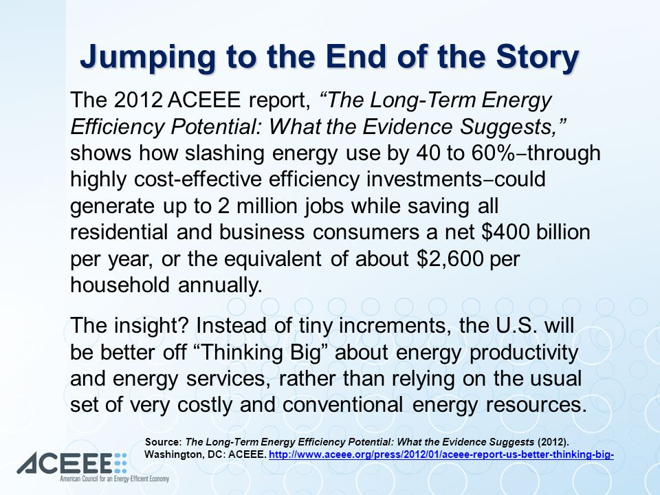 Jumping to the End of the Story The insight. Instead of tiny increments, the U.S.