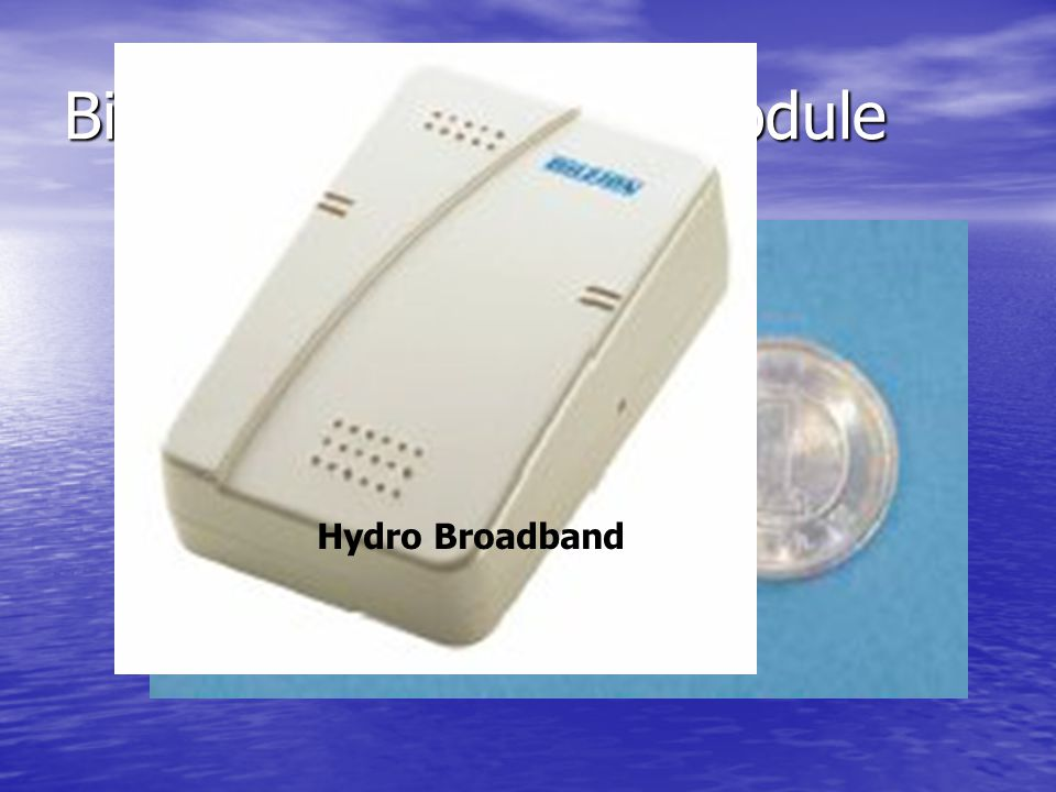 Bidirectional wireless module Hydro Broadband