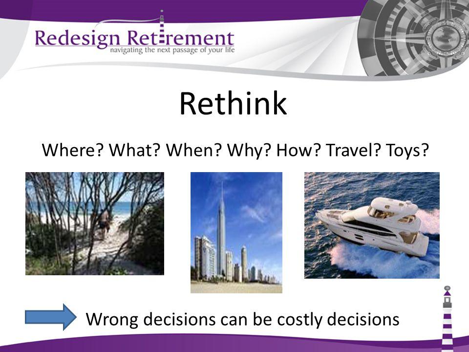 Reinvigorate Retirement Expectations of Longevity Pleasure Fulfillment Reward for a job well done …..work, family, money management.