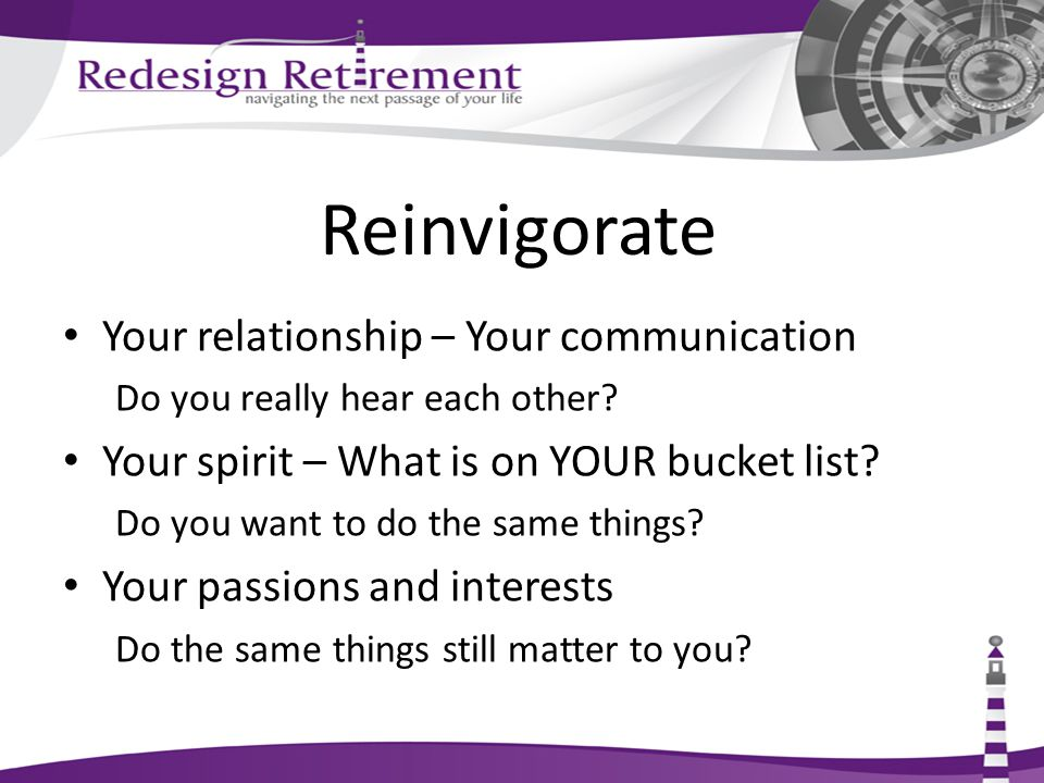 Reinvigorate Your relationship – Your communication Do you really hear each other.