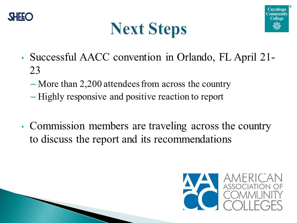 Successful AACC convention in Orlando, FL April 21- 23 – More than 2,200 attendees from across the country – Highly responsive and positive reaction t