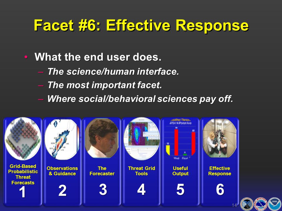 Facet #6: Effective Response What the end user does.What the end user does.