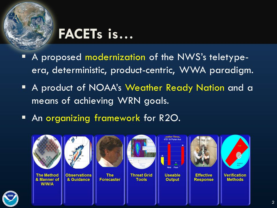  A proposed modernization of the NWS's teletype- era, deterministic, product-centric, WWA paradigm.
