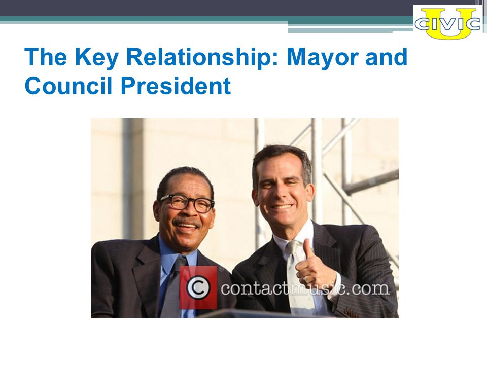 The Key Relationship: Mayor and Council President