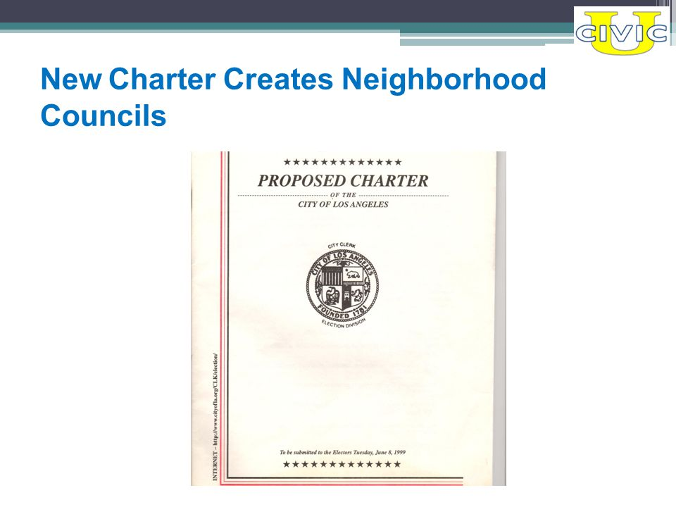 New Charter Creates Neighborhood Councils