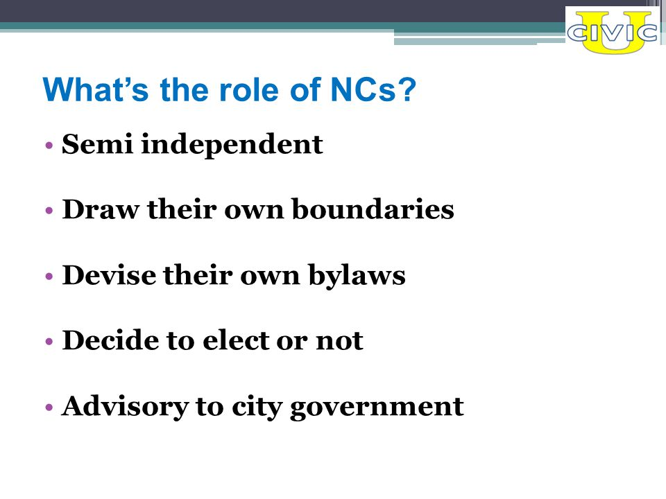What's the role of NCs.