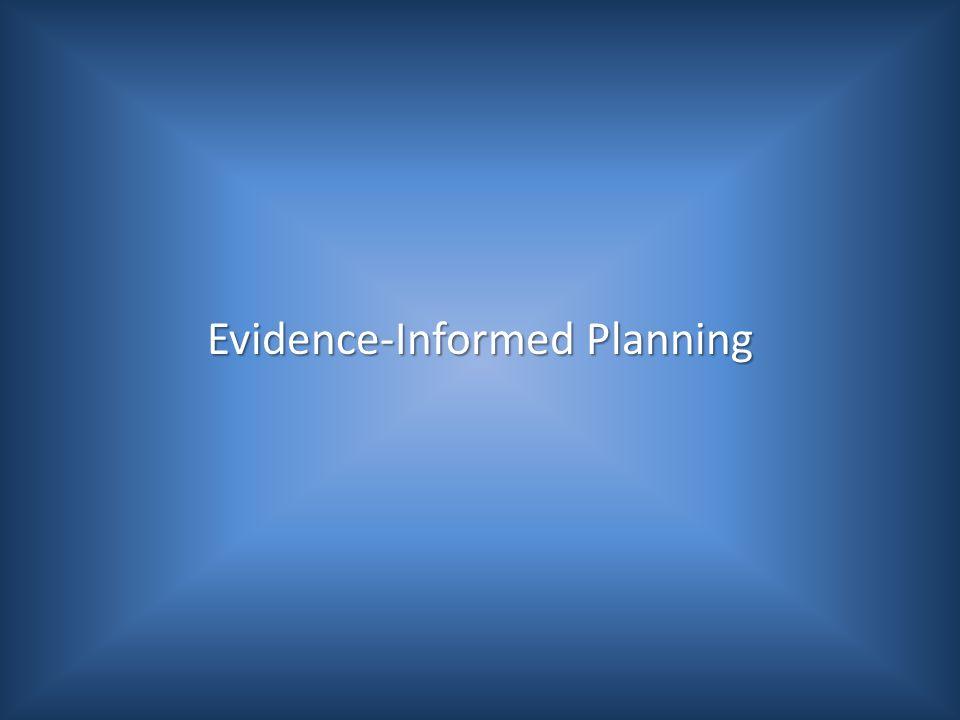 Evidence-Informed Planning