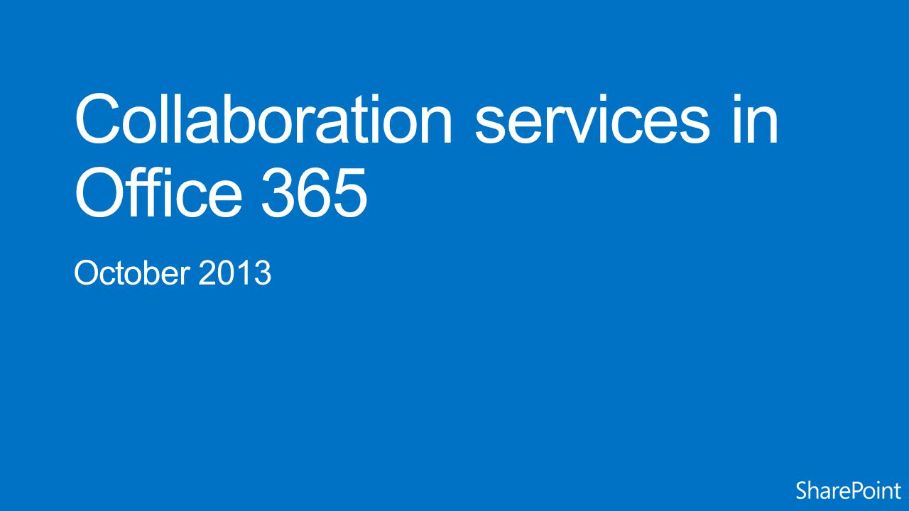 Use Yammer Immediate social adoption & rapid innovation Integrate using app & guidance Use SharePoint 2013 social For organizations unable to leverage a cloud-delivered service