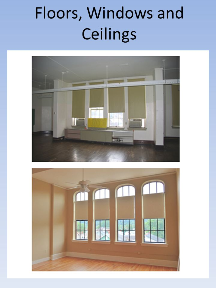 Floors, Windows and Ceilings