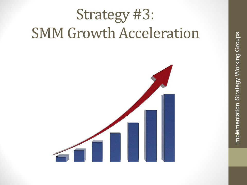 Strategy #3: SMM Growth Acceleration Implementation Strategy Working Groups