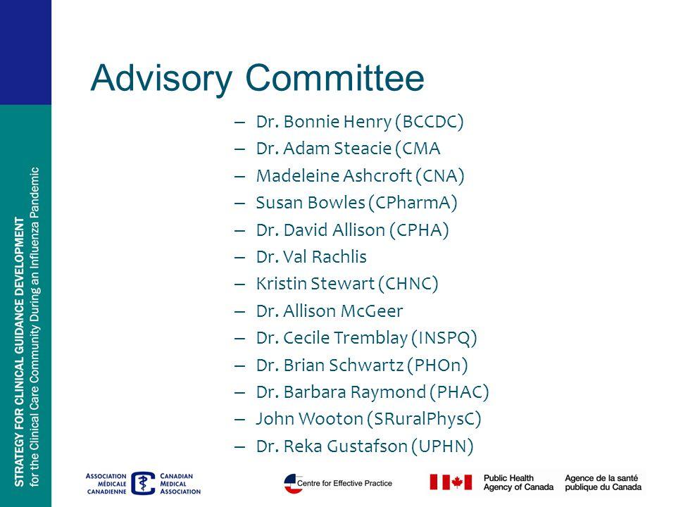 – Dr. Bonnie Henry (BCCDC) – Dr.